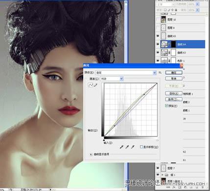 上海非凡进修学院 photoshop培训给美女模特美化增强质感