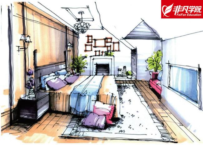 上海非凡进修学院--室内设计培训:为你勾画手绘快速