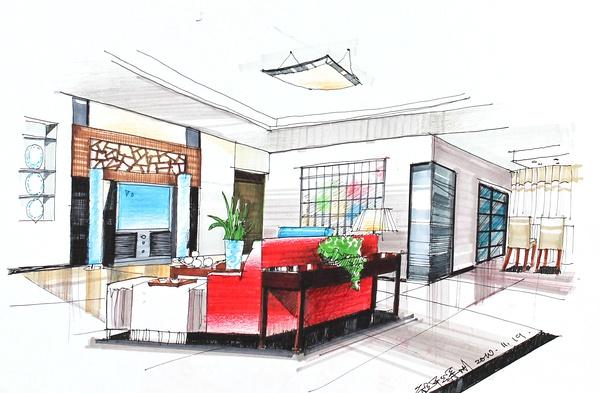 上海非凡进修学院--上海室内设计培训:室内设计手绘