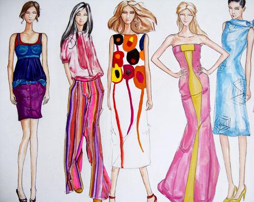 上海服装设计培训:服装设计手绘与电脑手绘技巧