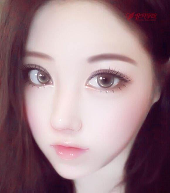 网页设计培训资讯>上海网页美工设计培训—制作真人仿手绘娃娃脸照片