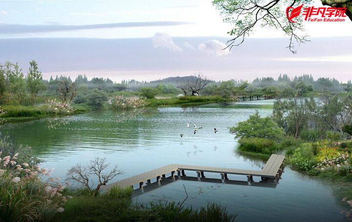 1:定点   点,即点景,风景园林的焦点,在景观造园活动中起锦上添花