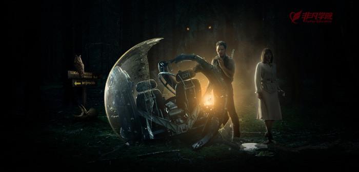 合成经典科幻电影海报图片的ps教程—上海动态网站开发培训