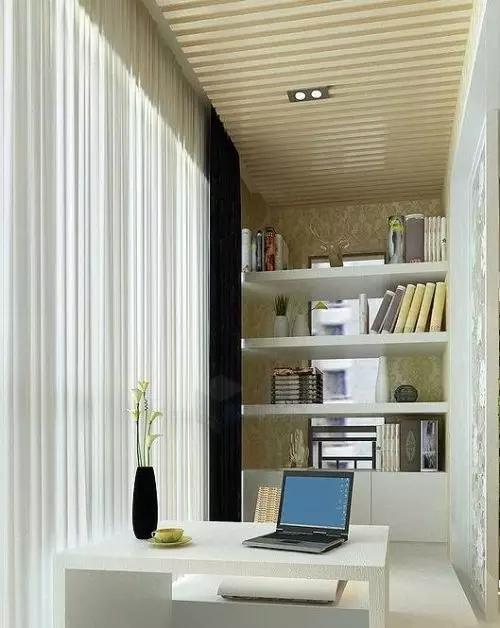 阳台空间一般较小,为了能有效利用空间,(上海室内装修设计培训)可考虑将其与居室打通而连为一体,只须用落地窗与外界隔开,便可获得较好的私密性和装饰效果。