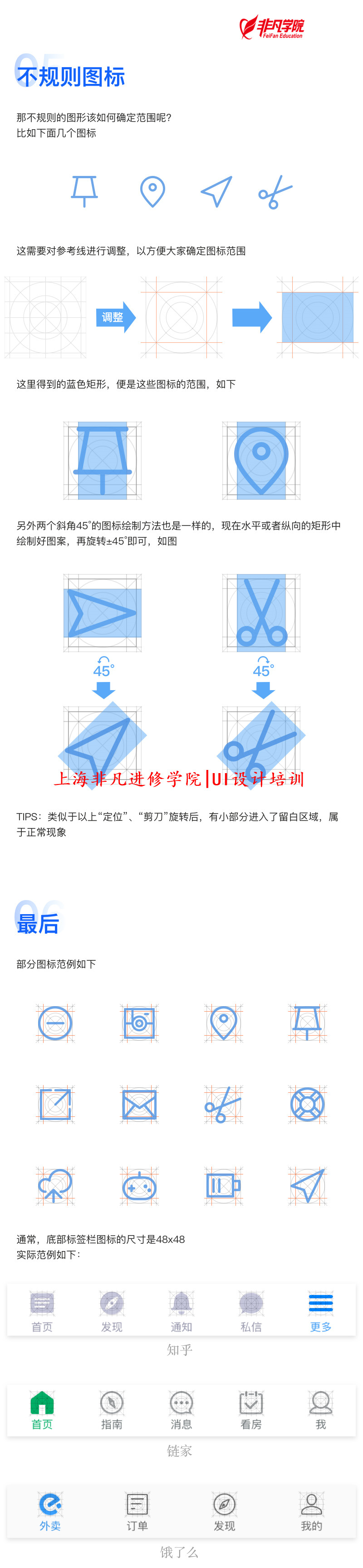 平面ui资讯>上海ui设计培训—没掌握图标的绘制规范之前,别说自己会画
