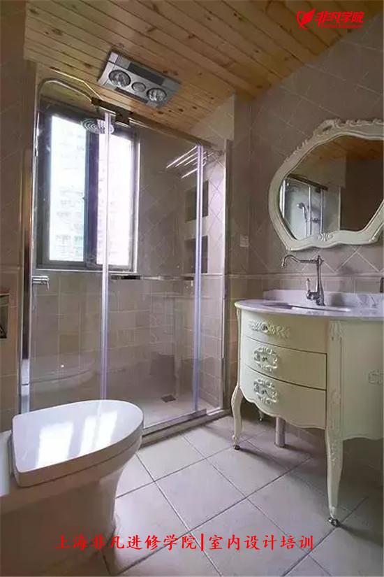 室内景观资讯>上海室内装修设计培训—原来卫生间要这样装,更漂亮