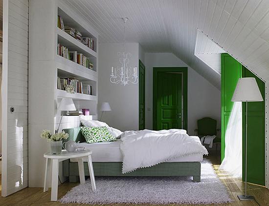 阁楼房子天窗帘图片