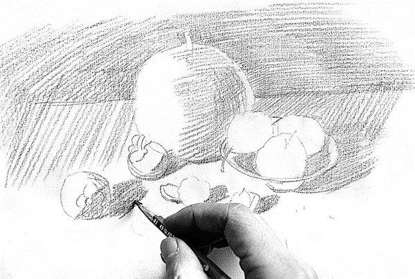 素描水果的绘画步骤4