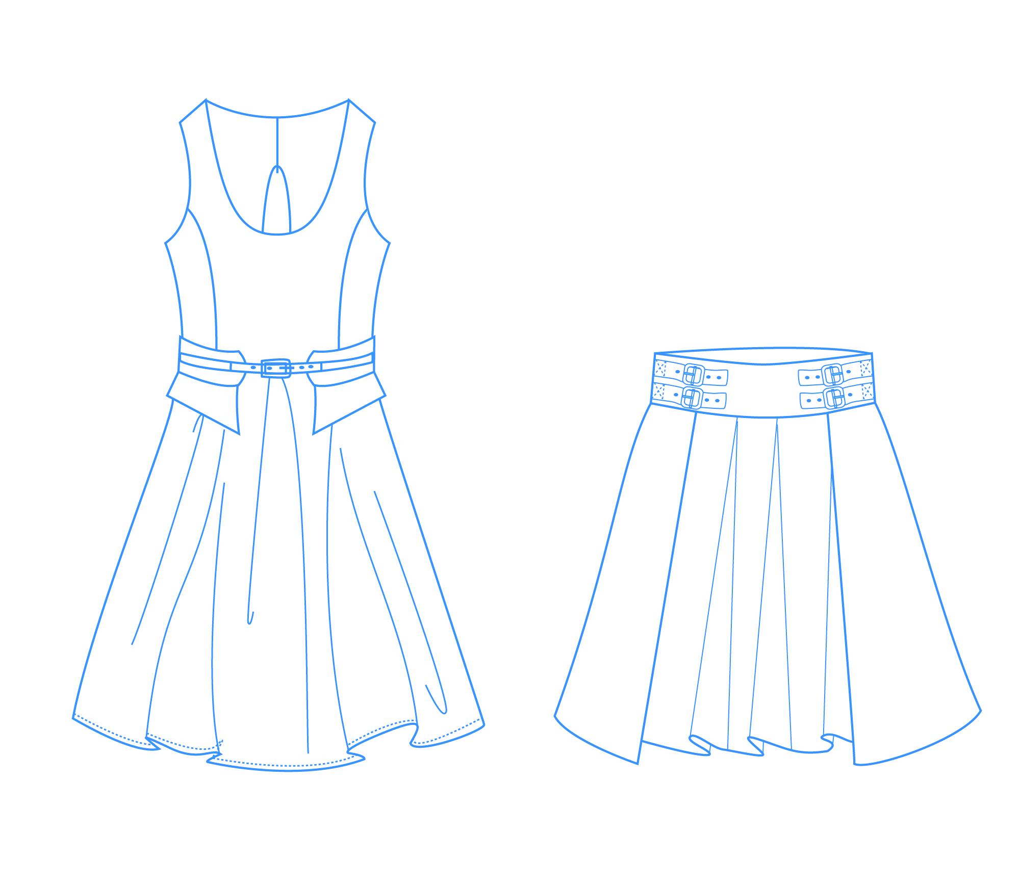 结构制图不仅同服装的制图规格有关,还与选用的服装材料,服装的款式