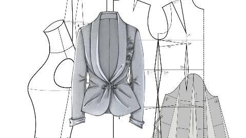 服装手绘系列图前后面