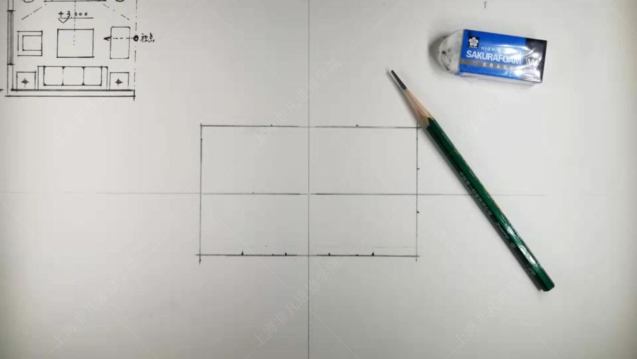 上海闵行室内装修设计培训大咖分享室内平行透视空间手绘技法