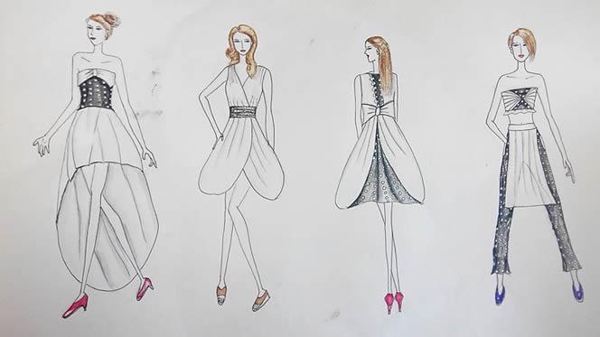 服装设计培训资讯--时装画技法入门教程之如何画人体?图片